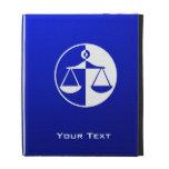 Blue Justice Scales iPad Folio Case