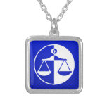 Blue Justice Scales Pendant