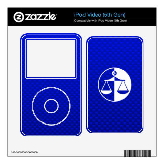 Blue Justice Scales Skins For iPod Video 5G