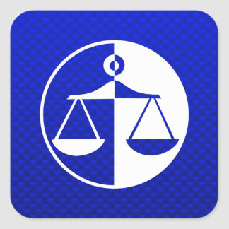Blue Justice Scales Square Sticker