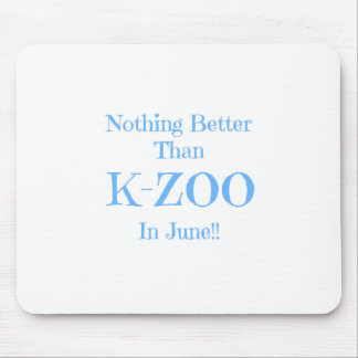 blue K-Zoo Mouse Pad