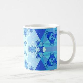 Blue Kaleidoscope: Abstract Artwork: Coffee Mug