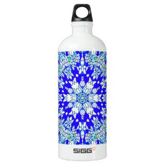 Blue Kaleidoscope Aluminum Water Bottle