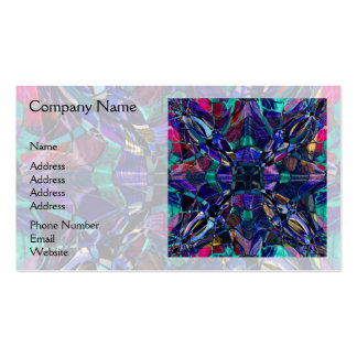 Blue Kaleidoscope Fractal Double-Sided Standard Business Cards (Pack Of 100)
