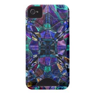 Blue Kaleidoscope Fractal casemate_case