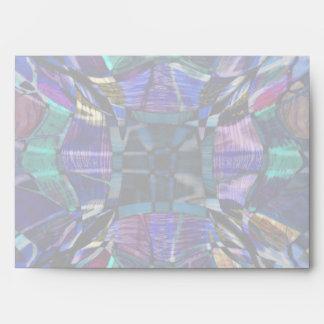 Blue Kaleidoscope Fractal Envelope