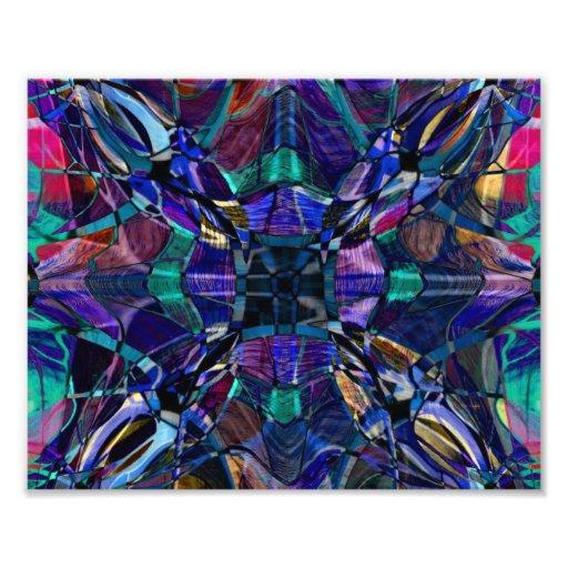 Blue Kaleidoscope Fractal Photograph