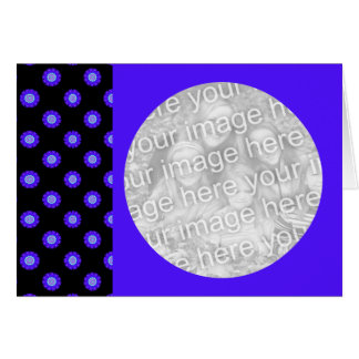 blue kaleidoscope pattern photo frame card