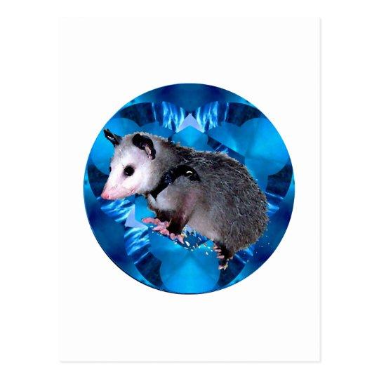 Blue Kaleidoscope Possum Postcard
