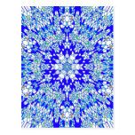 Blue Kaleidoscope Postcard