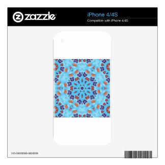 Blue Kaleidoscope Skin For iPhone 4S