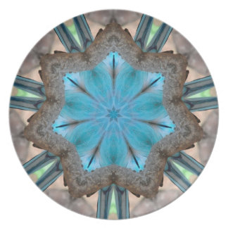 Blue Kaliedoscope Design Plate