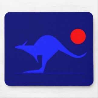 Blue Kangaroo Mouse Pad