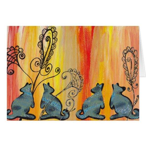 Blue Kangaroos Greeting Card