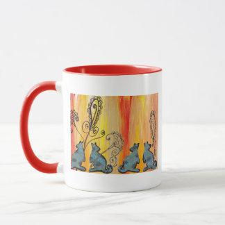 Blue Kangaroos Mug