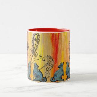 Blue Kangaroos Two-Tone Coffee Mug