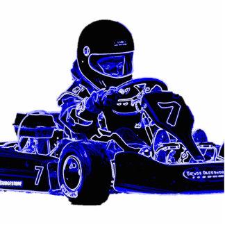 Blue Kart Cutout