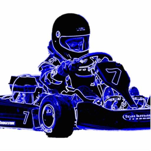 Blue Kart Acrylic Cut Out
