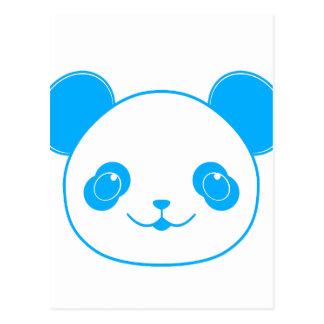 Blue Kawaii Panda Bear Postcard