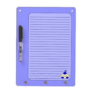 Blue Kawaii Tickle Monster Dry Erase Board