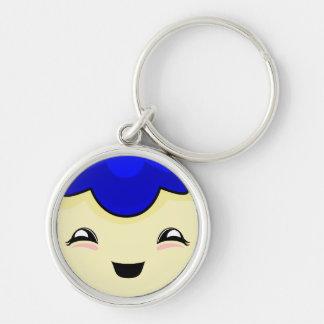 Blue Kawaii Tickle Monster Key Chains