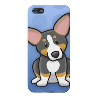 Blue Kawaii Tricolor Corgi iPhone 4 Case