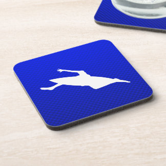 Blue Kayaking Beverage Coaster
