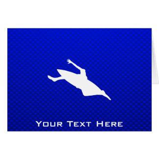Blue Kayaking Card