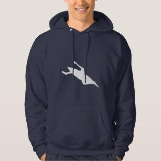 Blue Kayaking Hoodie