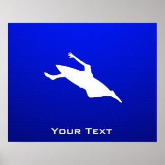 Blue Kayaking Poster