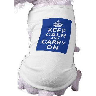 Blue Keep Calm and Carry On Tee