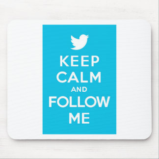 Blue Keep Calm and Follow Me Mouse Pad