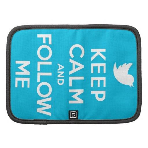 Blue Keep Calm and Follow Me Folio Planner
