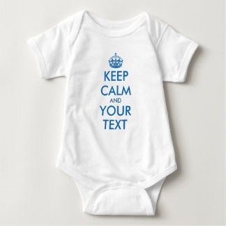Blue KeepCalm baby infant creeper jumpsuit