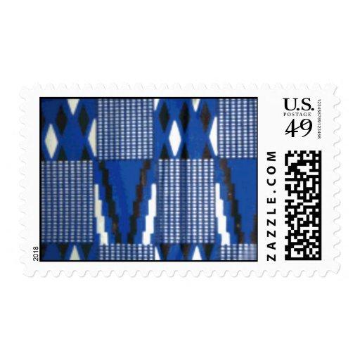 blue  kente stamp