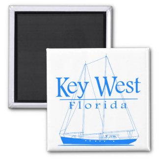 Blue Key West Sailing Refrigerator Magnet