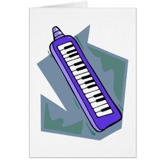 Blue Keytar portable 80s keyboard piano graphic Card