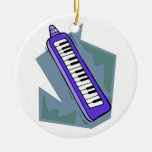 Blue Keytar portable 80s keyboard piano graphic Ornament