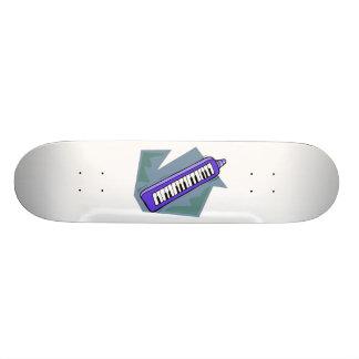 Blue Keytar portable 80s keyboard piano graphic Skateboard Deck