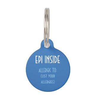 Blue Kids Epi Inside Emergency Contact Allergy Pet Tag