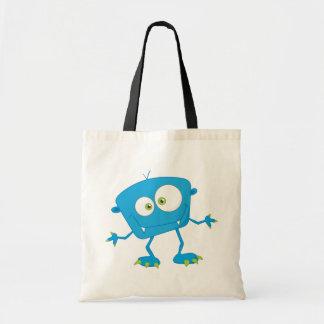 Blue Kids Monster Alien Tote Bags