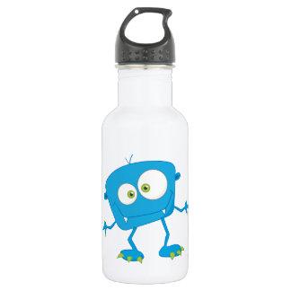 Blue Kids Monster Alien Stainless Steel Water Bottle
