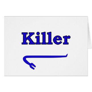 Blue killer crowbar card