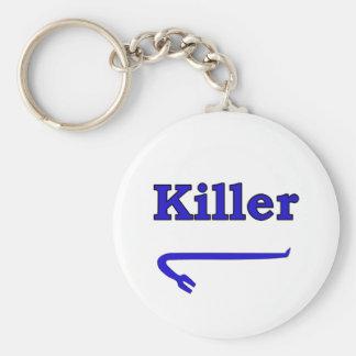 Blue killer crowbar keychain