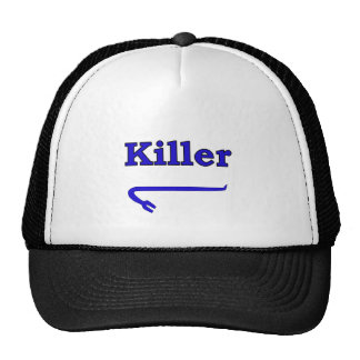 Blue killer crowbar trucker hat