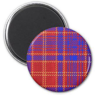 Blue Kilt Tartan 2 Inch Round Magnet
