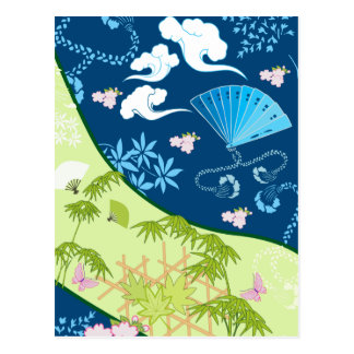 Blue Kimono Postcard