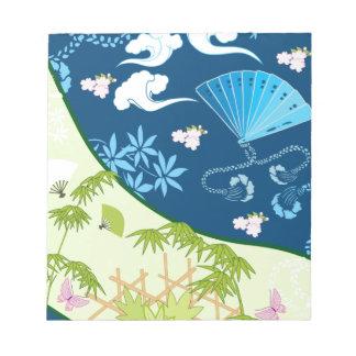 Blue Kimono Scratch Pads