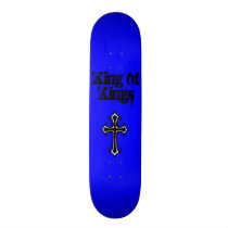 Blue King of Kings Skateboard Deck