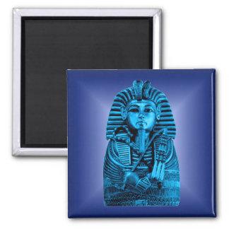 Blue King Tut #2 2 Inch Square Magnet